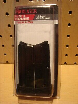 Ruger LCP II Magazine 22 LR 10 Round 2 Pack 90697 NEW
