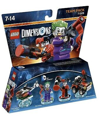 LEGO Dimensions Team Pack 71229 JOKER & HARLEY QUINN 92 Pieces New & Sealed MISB