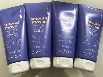*Lot Of 4* Avon NAKEDPROOF Smooth Moves Anti-Cellulite Cooling Gel 6.7oz Sealed