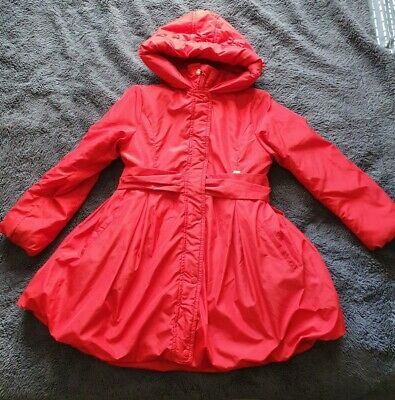 A Dee Girls Red Ariana Dee Bow Coat Age 9-10