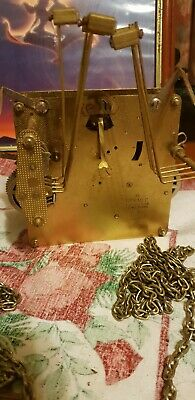 Antique Hermle  clock movement 8 hammers triple chime chain spair and repairs