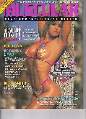 Muscular Development Magazine August 1994 (with poster)