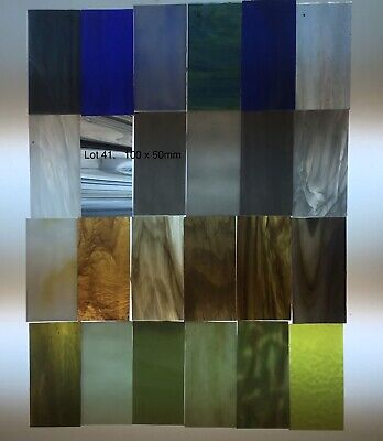 Stained Glass Hobby Sheets Mixed Colour 24 X 100mm X 50mm