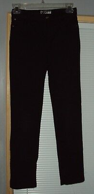 Girls Children's PLACE Stretchy Pants Size 12 Black Jeggings