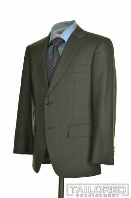 SUITSUPPLY Solid Gray SUPER 110's WOOL Dual Vent Jacket Pants SUIT Mens - 38 S
