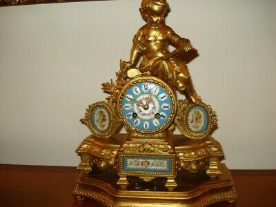 Vintage French clock--Sevres style Clock, Louis XVI France 1860