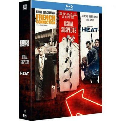 Blu-ray Neuf - Coffret 3 Films : French Connection Heat Usual Suspects