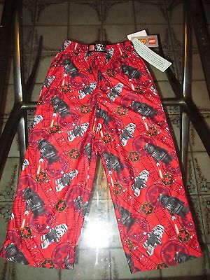 LEGO Star Wars Boys Pajama Lounge Pants Flame Resistant  Red NWT size 4/5