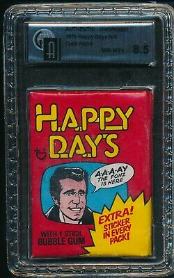 1976 Topps Happy Days Non Sports N/S Unopened Wax Pack GAI 8.5 NM-MT+