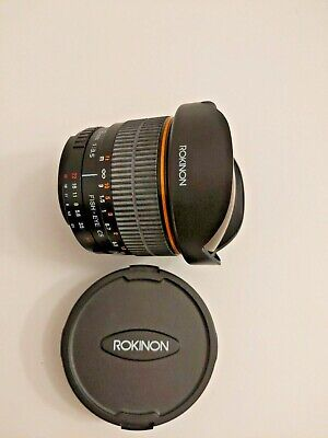 Rokinon 8mm f/3.5 Fisheye CS Lens for Nikon DX Cameras- GREAT COSMETIC CONDITION