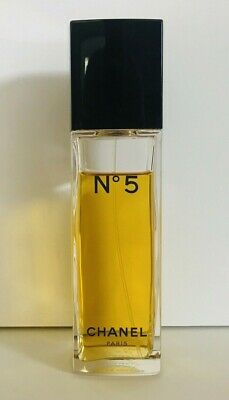 Chanel No 5 Eau de Toilette Perfume Spray 3.4 fl oz / 100ml Tall Bottle 80% Full