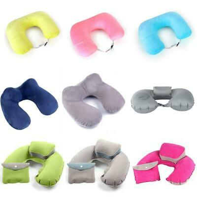 Inflatable U Shaped Neck Support Travel Pillow Cushion Air Plane Sleep Relax