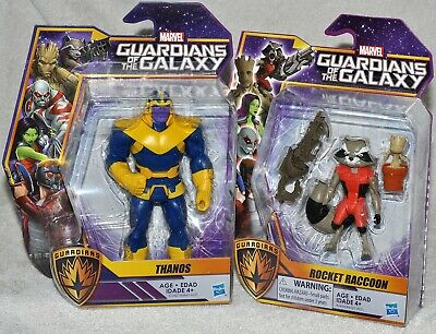Marvel Guardians of the Galaxy Thanos & Rocket Raccoon figures MOC 2015 NEW