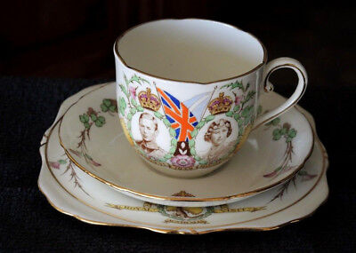 Cup Saucer Plate 1949 Visit To Australia King George Vi Did Not Happen Grafton #