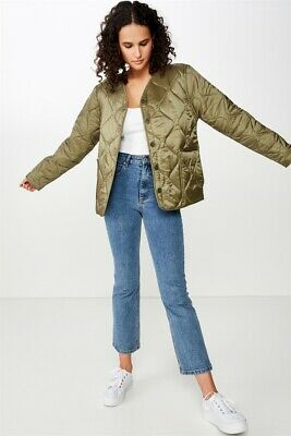 Cotton On Womens Erin Quilted Shell Jacket Jackets  In  Green