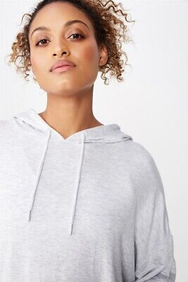 Cotton On Body Womens Long Line Spring Hoodie  In  Grey