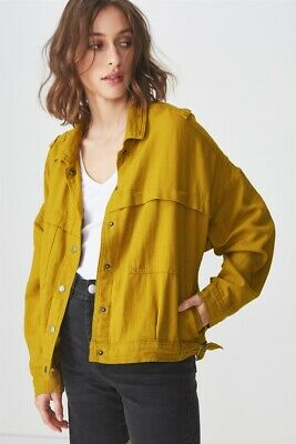 Cotton On Sargent Military Jacket Jackets  In  Golden Palm