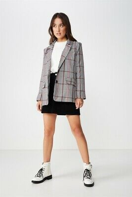 Cotton On Womens Relaxed Blazer Jackets  In  Multicoloured