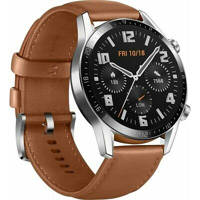 HUAWEI Watch GT 2 Classic 46mm braun Bluetooth Smartwatch für Android und WOW