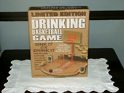 Novelty Basketball Drinking Game Night Shot Glasses Shoot Hoops Party Fun Gift