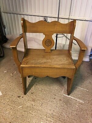 Arts And Craft Light Oak Hall Chair