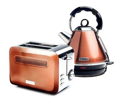 Haden Boston Kitchen Kettle or Toaster - Stylish Copper Colour