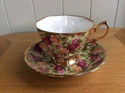 Royal Albert Old Country Roses Chintz Collection Cup And Saucer