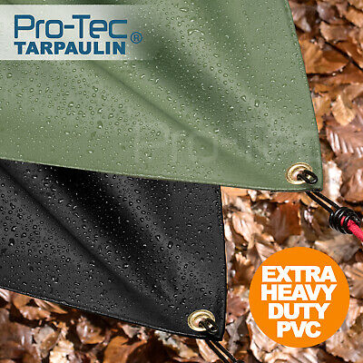 PVC 600gsm Extra Heavy Duty Tarpaulin Waterproof Sheet Lorry Tarp Thick Cover