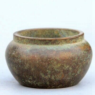 Collectable Handwork China Old Bronze Carve Delicate Unique Antique Storage Jar