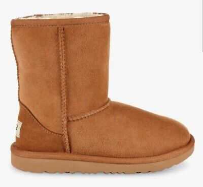 Ugg Kids Classic II Chestnut Sheepskin Lined Short Boots, Size UK1, BNIB