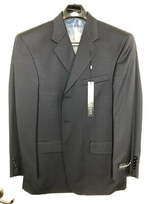 New Mens Geoffrey Beene Solid Navy 100% Wool Suit Jacket