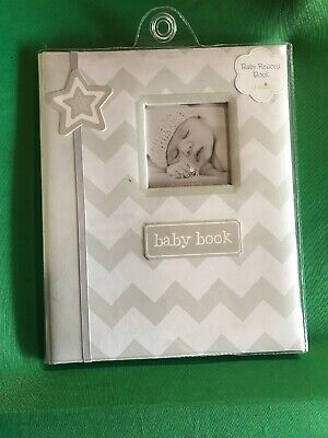 My Baby 🍼First Memories Book  📔Lil Peach Grey Zigzag - Keepsake Record Album