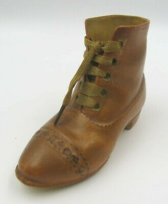 Antique Victorian Pottery Miniature Model of a Shoe Boot Novelty