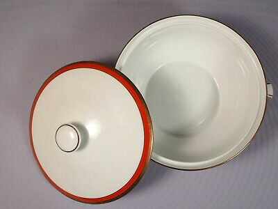 Richard Ginori PALERMO RED Rust Soup Vegetable Tureen Serving Covered Bowl Italy