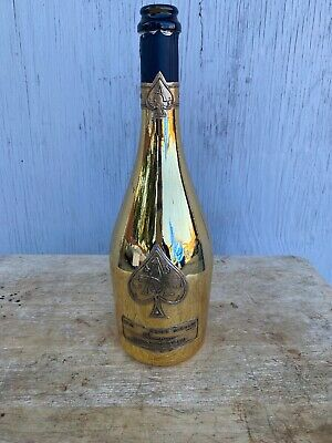 Armand De Brignac ACE OF SPADES Brut Champagne empty bottle GOLD (750ML)