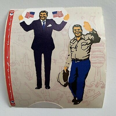 Rare Vintage Stickers - Cardesign -Toots Ronal Reagan Dated 1981