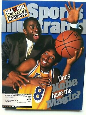1998 Lakers Kobe Bryant & Magic First Rookie Cover 4-27-98 Sports Illustrated