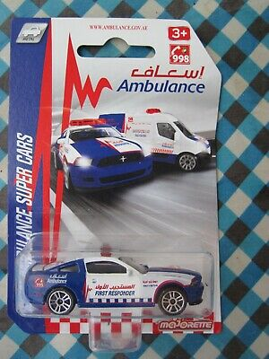 Majorette Dubai Ambulance Super Cars Ford Mustang Boss 'First Responder'  2020
