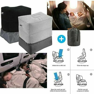 AU Inflatable Portable Foot Rest Travel Footrest Pillow Plane Office Cushion Pad