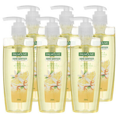6PK Palmolive 200ml Lemon Citrus Hand Gel Sanitizer Antibacterial Sanitiser/Pump