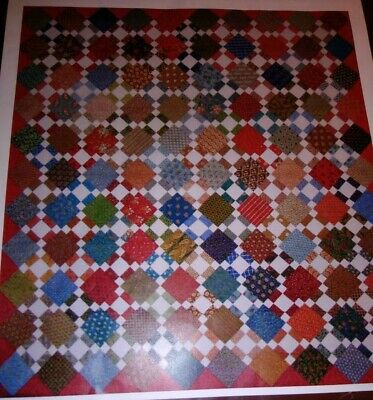 Quilt Kit Red Crinolone Bonnie Blue Reproduction Fabric Second Hand Clothes
