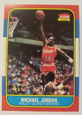 1986 Fleer #57 Michael Jordan Chicago Bulls RC Rookie EXMT