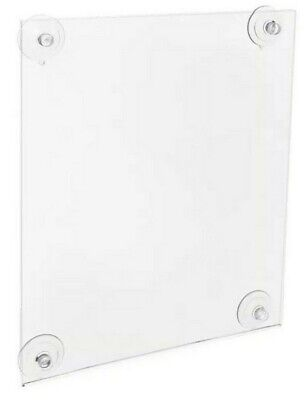 "Azar Displays 8.5 x 14"" Acrylic Sign Holder w/ Suction Cups 2 Pack 106606"