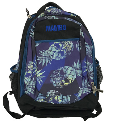 MAMBO | Pineapple Skulls Bag Backpack | 7 Pockets - Inc 1 Insulated | Exc Cond