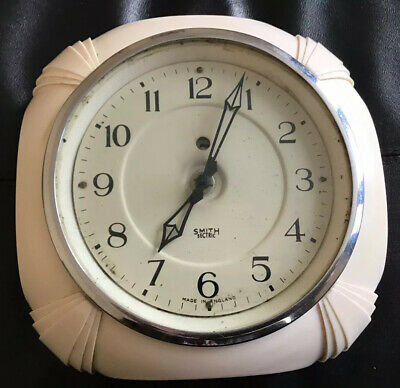 Smiths Sectric Art Deco Bakelite Cream Wall Clock