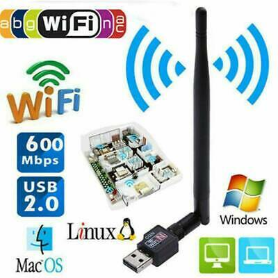 USB WiFi Dongle Adapter 1200Mbps Wireless Network Fit Laptop Desktop PC Antenna