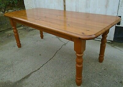 "6' 4"" x 2' 10"" Solid Pine Farmhouse Kitchen Dining Table Country Cottage Style"