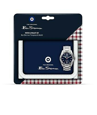 Ben Sherman Boys Silver Watch and Blue Wallet Gift Set