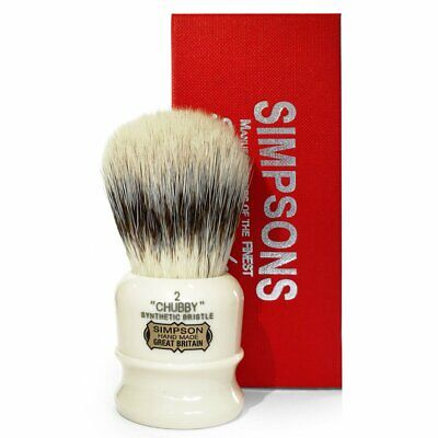 Simpsons Chubby 2 Synthetic Shaving Brush - Hand Made - Brand New And Boxed!