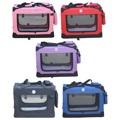 Fabric Dog Crate Puppy Carrier Cat Travel Cage Carry Pet Bag 4 Size Kennel